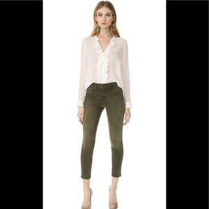 NWT L'agence Margot olive green jeans 25